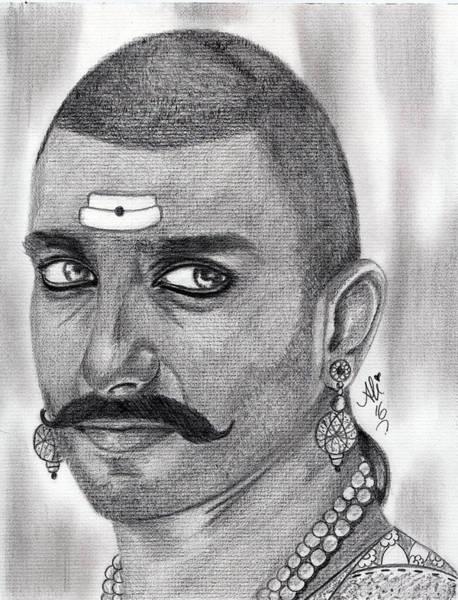 Singh Drawing - Bajirao Mastani by Bobby Dar