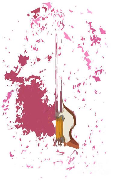 Bass Guitar Digital Art - Bajo Destruido by Drawspots Illustrations