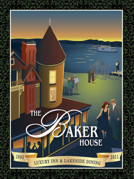Wall Art - Painting - Baker House Endless Sunset by Leslie Alfred McGrath