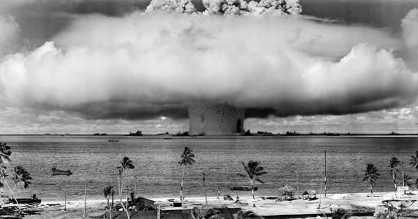 Atomic Bomb Photograph - Baker Hydrogen Bomb - Bikini Atoll - July 1946 by Daniel Hagerman