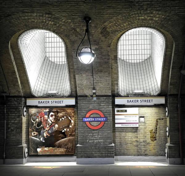 Wall Art - Digital Art - Baker Street, Gerry Rafferty by Mal Bray