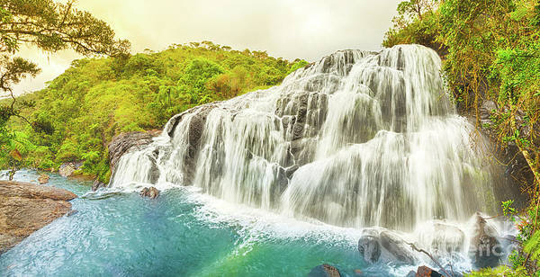 Srilanka Wall Art - Photograph - Bakers Falls. Panorama by MotHaiBaPhoto Prints