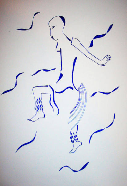 Drawing - Bakiga Dance by Gloria Ssali