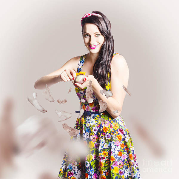 Photograph - Baking Pin Up Cook by Jorgo Photography - Wall Art Gallery