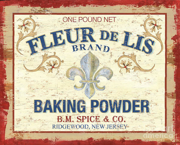 Signs Painting - Baking Powder Fleur De Lis by Debbie DeWitt