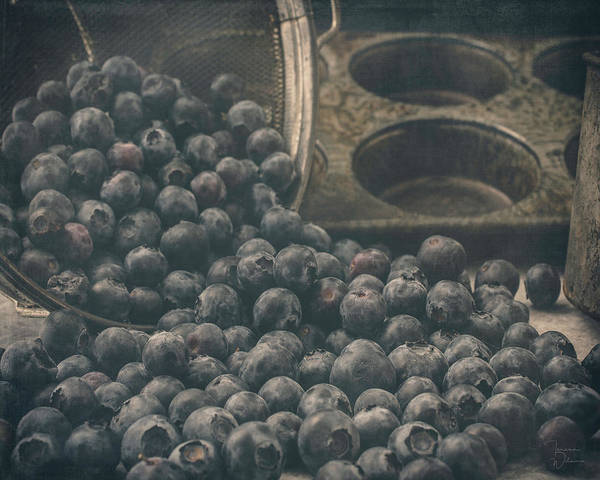 Photograph - Baking With Blueberries by Teresa Wilson