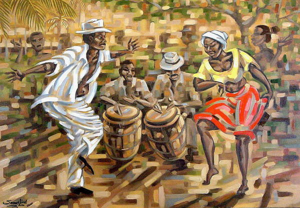 African Dance Painting - Balance II by Samuel Lind