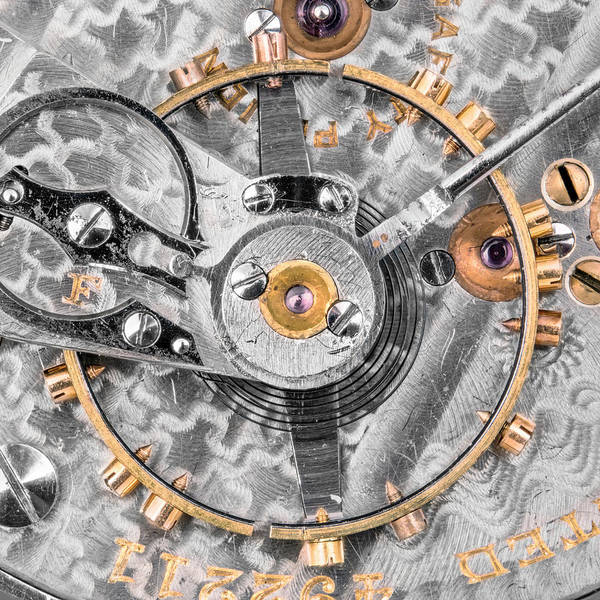 Photograph - Balance Wheel Of A Vintage Pocketwatch by Jim Hughes