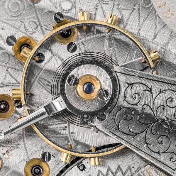 Wall Art - Photograph - Balance Wheel Of An Antique Pocketwatch by Jim Hughes