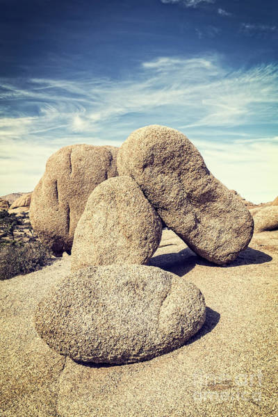 Photograph - Balanced Boulders In Joshua Tree National Park by Bryan Mullennix