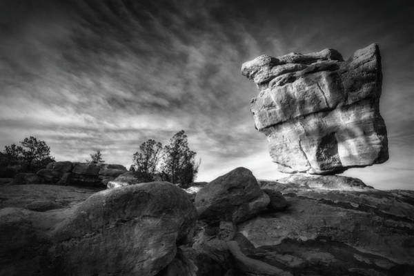 Photograph - Balanced Rock Garden Of The Gods by Bitter Buffalo Photography