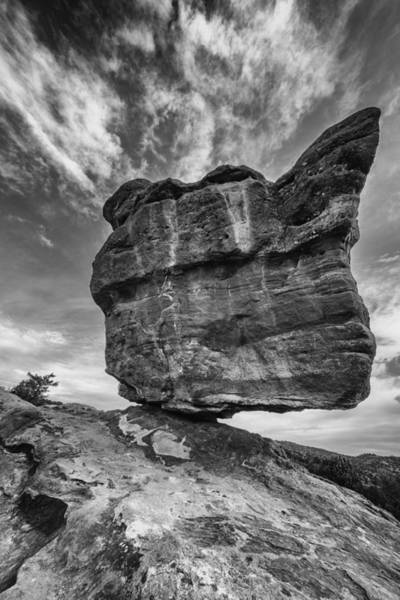 Balanced Rock Monochrome Art Print