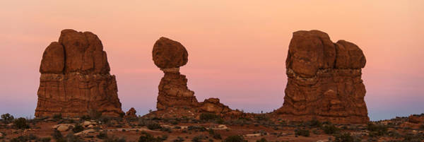 Wall Art - Photograph - Balanced Rocks At Sunset, Arches by Panoramic Images