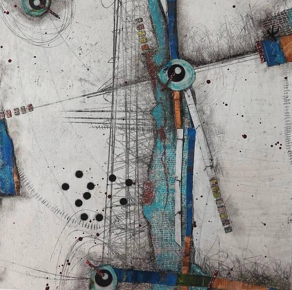 Dot Mixed Media - Balancing Act by Laura Lein-Svencner