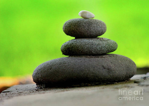 Photograph - Balancing Rocks Green by Karen Adams