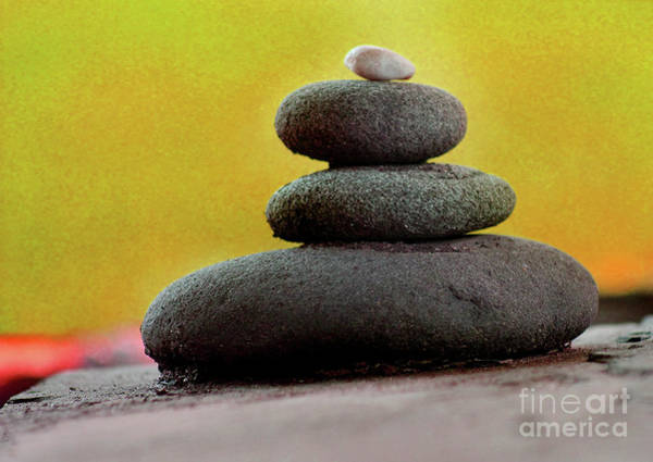 Photograph - Balancing Rocks Orange by Karen Adams