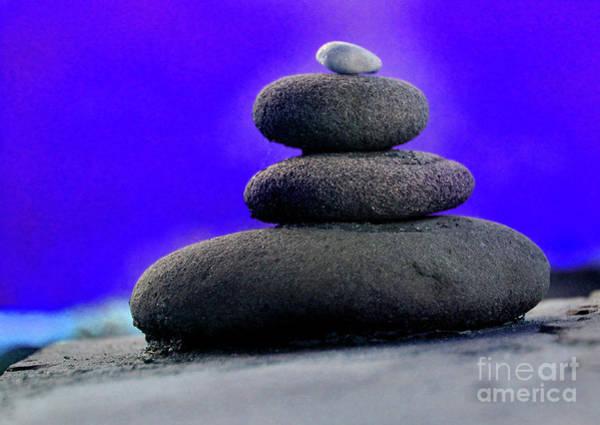 Photograph - Balancing Rocks Purple by Karen Adams