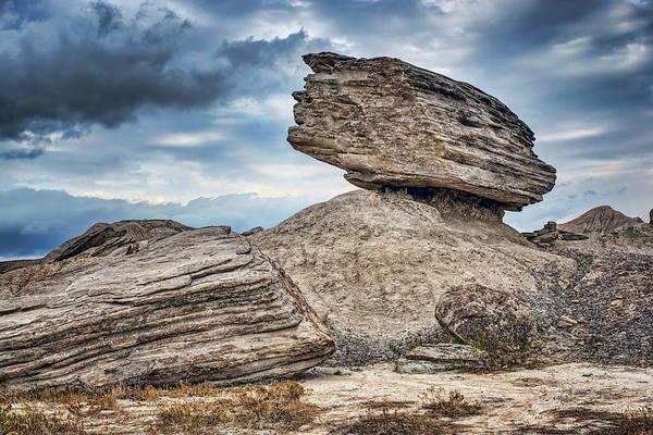 Balancing Rocks Photograph - Balancing - Toadstool Geologic Park by Nikolyn McDonald