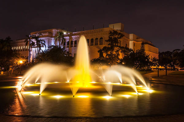 Photograph - Balboa Park Fountain Evening by TM Schultze