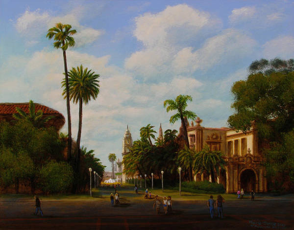 Wall Art - Painting - Balboa Park by Mark Junge