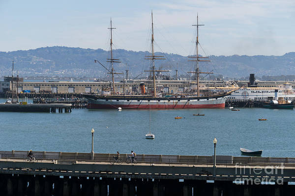 Photograph - Balclutha Cargo Ship At Hyde Street Pier San Francisco California Dsc3180 by Wingsdomain Art and Photography