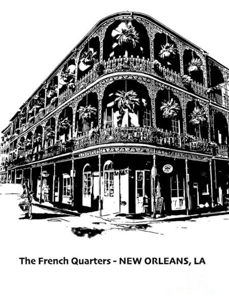 White Wall Art - Photograph - Balconies Of New Orleans by PorqueNo Studios