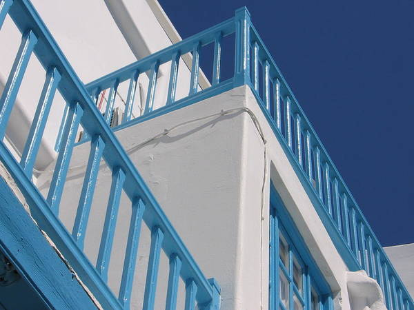Photograph - Blue And White In Mykonos by Karen J Shine