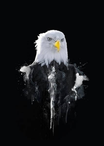 Bald Mixed Media - Bald Eagle by BONB Creative