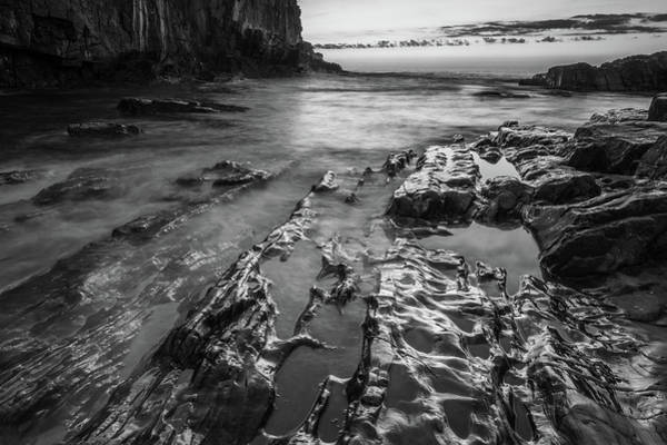 Photograph - Bald Head Cliff In Black And White by Kristen Wilkinson