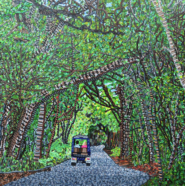 Wall Art - Painting - Bald Head Island, Federal Road by Micah Mullen