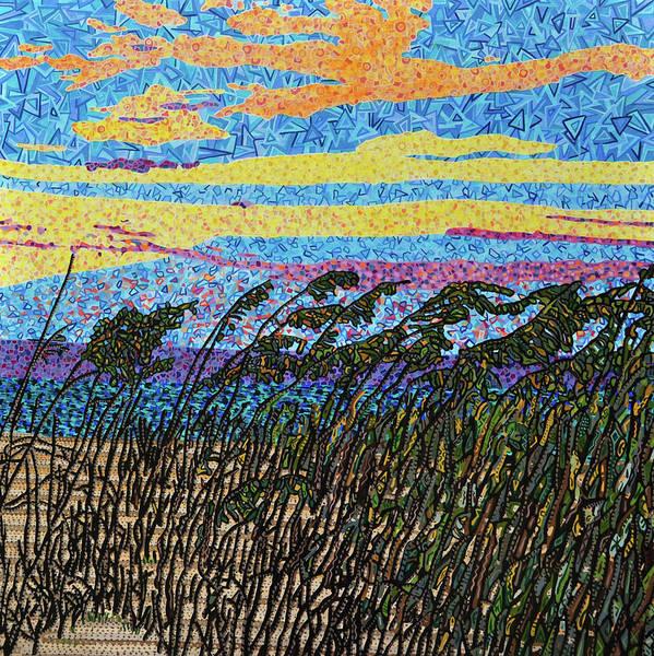 Wall Art - Painting - Bald Head Island, Sea Oat Sunset by Micah Mullen