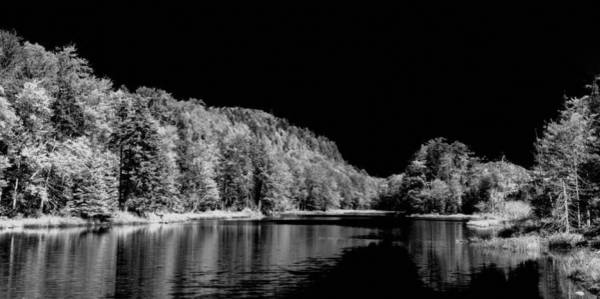 Photograph - Bald Mountain Pond Panorama Bw by David Patterson