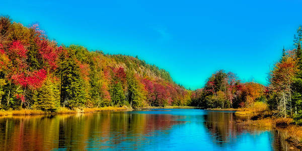 Photograph - Bald Mountain Pond Panorama by David Patterson