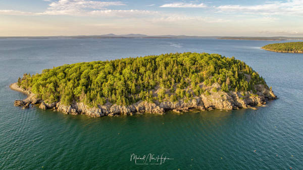 Photograph - Bald Pocupine Island, Bar Harbor by Michael Hughes