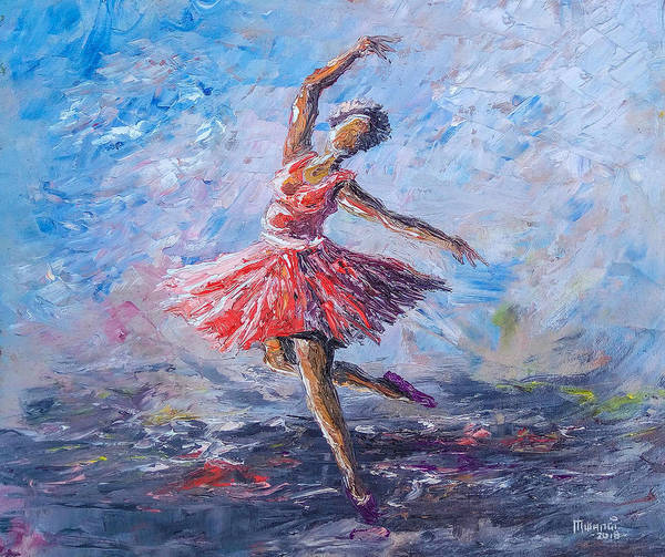 Wall Art - Painting - Ballet Dancer by Anthony Mwangi