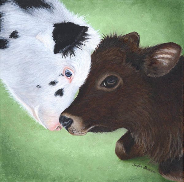 Wishing Well Painting - Bali And Kai by Twyla Francois