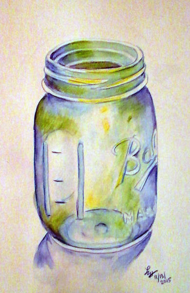 Painting - Ball Mason Jar by Loretta Nash