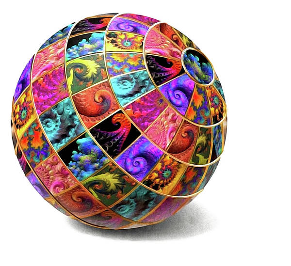 Digital Art - Ball Of Fractals by Susan Maxwell Schmidt