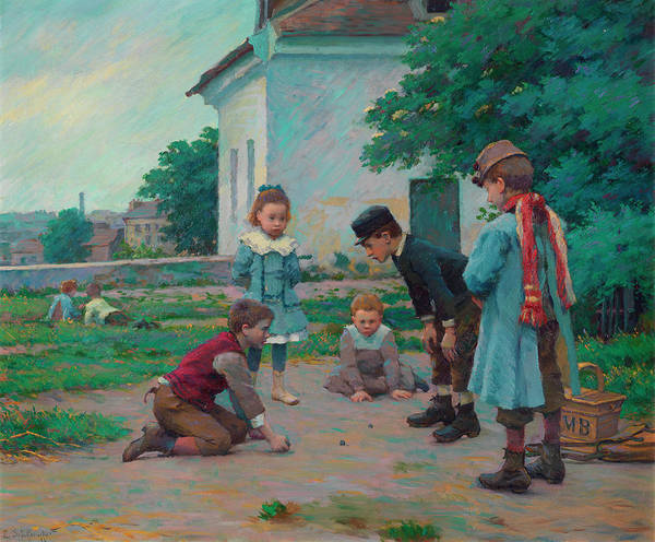 Peace And Love Painting - Ball Party, Children Playing by Claude-Emile Schuffenecker