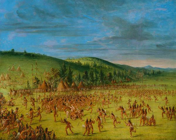 Painting - Ball-play Of The Choctaw - Ball Up by George Catlin
