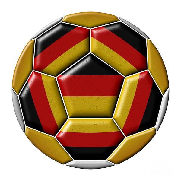 Digital Art - Ball With Germany Flag by Michal Boubin
