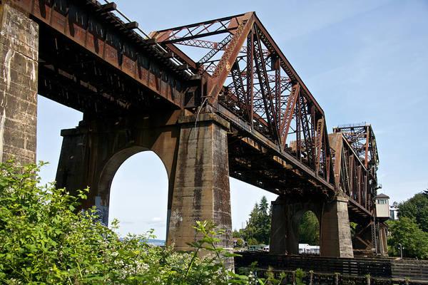 Photograph - Ballard Train Bridge by Steven Lapkin