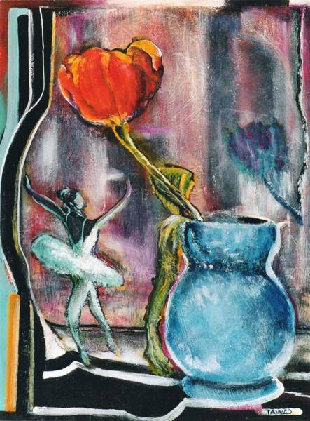 Painting - Ballerina And Flower by Dennis Tawes