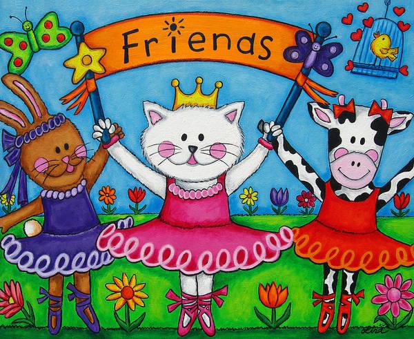 Painting - Ballerina Friends by Lisa  Lorenz