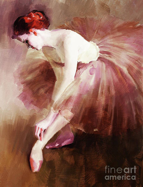 Latino Painting - Ballerina Girl  by Gull G
