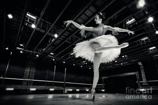 Photograph - Ballerina In The White Tutu by Dimitar Hristov