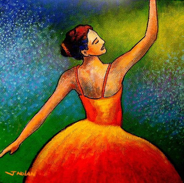 Irish Dance Painting - Ballerina by John  Nolan