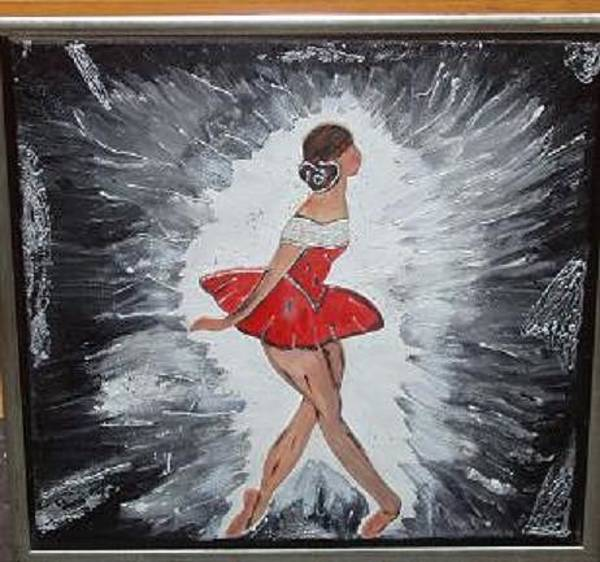 Wall Art - Painting - Ballerina by Mamu Art