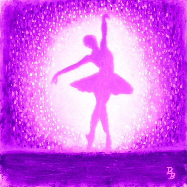 Painting - Ballerina Purple And Pink by Bob Baker