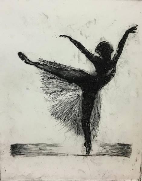 Art Print featuring the mixed media Ballerina by Rebecca Davidson
